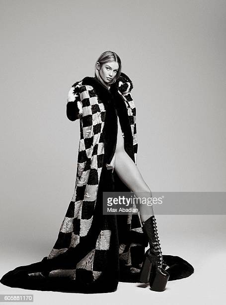 Model Stella Maxwell is photographed for Elle Brazil on July 12 2016 in New York City Published Image