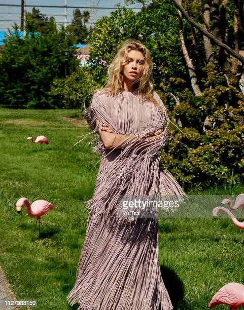 Model Stella Maxwell is photographed for Grazia Italy on July 25, 2018 in Sun Valley, California. PUBLISHED IMAGE.