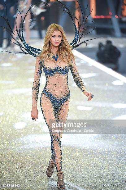 Model Stella Maxwell walks on the runway for the 2016 Victoria's Secret fashion show at Le Grand Palais on November 30 2016 in Paris France