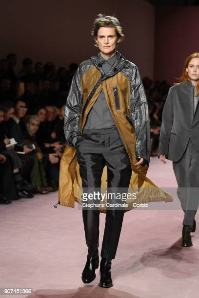 Model Stella Tennant walks the runway during the Berluti Menswear Fall/Winter 20182019 show as part of Paris Fashion Week January 19 2018 in Paris...