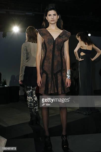 Model Stephanie Carta wears Vena Cava at the Vena Cava presentation during MercedesBenz Fashion Week Fall 2009 at Eyebeam on February 14 2009 in New...
