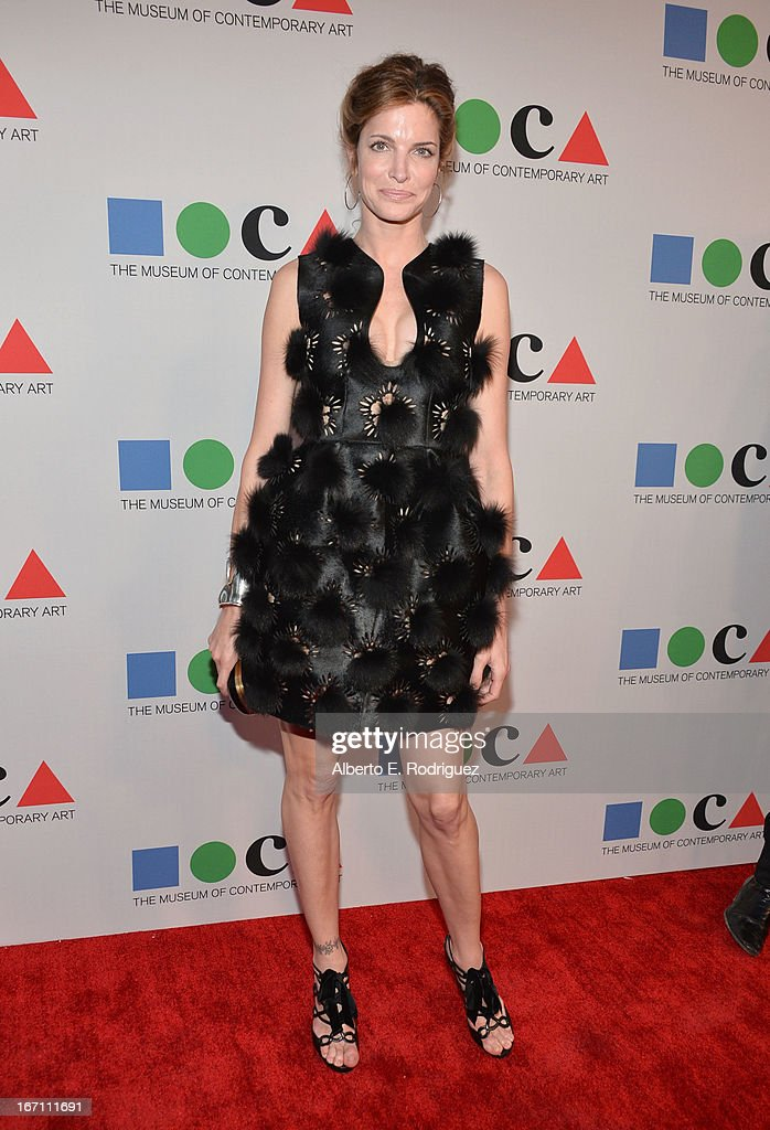 """Model Stephanie Seymour attends """"Yesssss!"""" MOCA Gala 2013, Celebrating the Opening of the Exhibition Urs Fischer, at MOCA Grand Avenue and The Geffen Contemporary on April 20, 2013 in Los Angeles, California."""