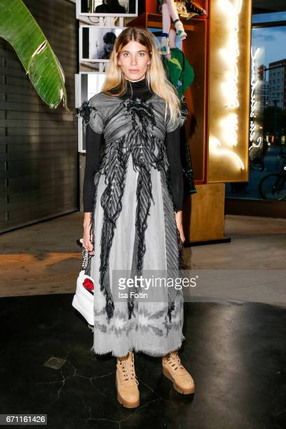 Model stylist and blogger Veronika Heilbrunner during the Chanel popup store opening at Soho House on April 19 2017 in Berlin Germany