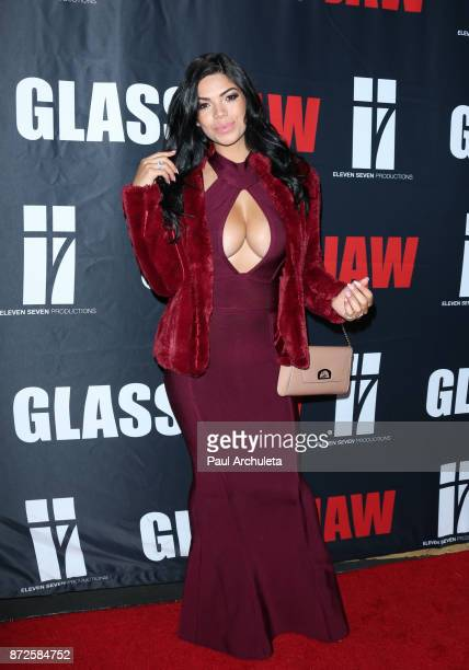 Model Suelyn Medeiros attends the premiere of Glass Jaw at Universal Studios Hollywood on November 9 2017 in Universal City California