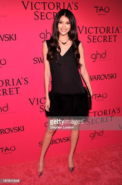 Model Sui He attends the 2013 Victoria's Secret Fashion Show at TAO Downtown on November 13 2013 in New York City