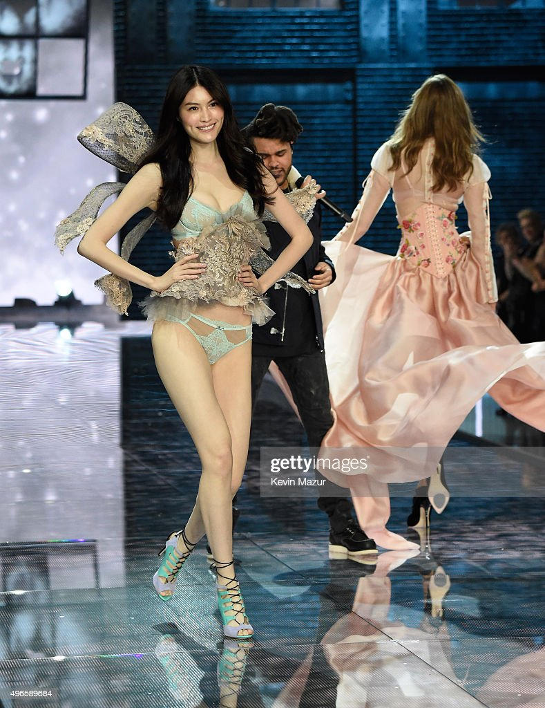 915f70e84a Model Sui He walks the runway during the 2015 Victoria s Secret ...