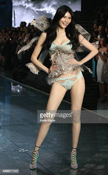28ca0d9847a Model Sui He walks the runway during the 2015 Victoria s Secret Fashion Show  at Lexington Armory