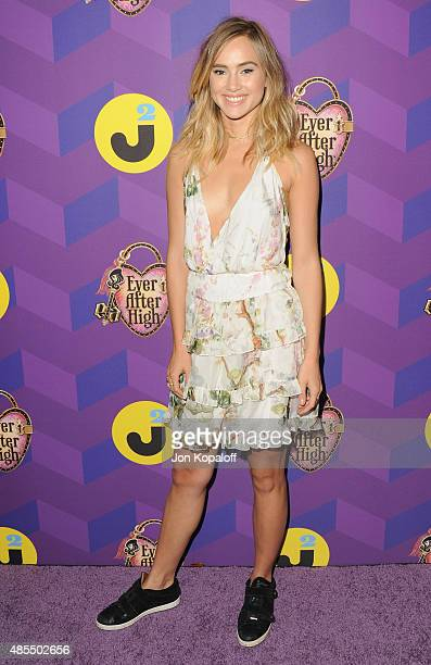 Model Suki Waterhouse arrives at Just Jared's Way To Wonderland Presented By Ever After High at Greystone Manor Supperclub on August 27 2015 in West...