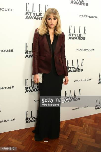 Model Suki Waterhouse attends the Elle Style Awards 2014 at one Embankment on February 18, 2014 in London, England.