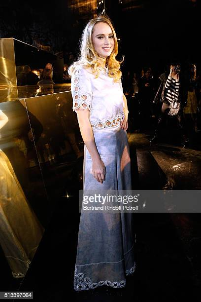 Model Suki Waterhouse attends the HM Studio show as part of the Paris Fashion Week Womenswear Fall/Winter 2016/2017 on March 2 2016 in Paris France
