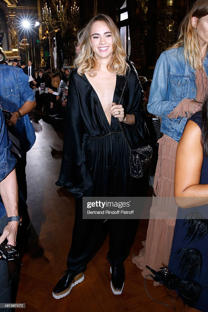 Model Suki Waterhouse attends the Stella McCartney show as part of the Paris Fashion Week Womenswear Spring/Summer 2016. Held at Opera Garnier on October 5, 2015 in Paris, France.