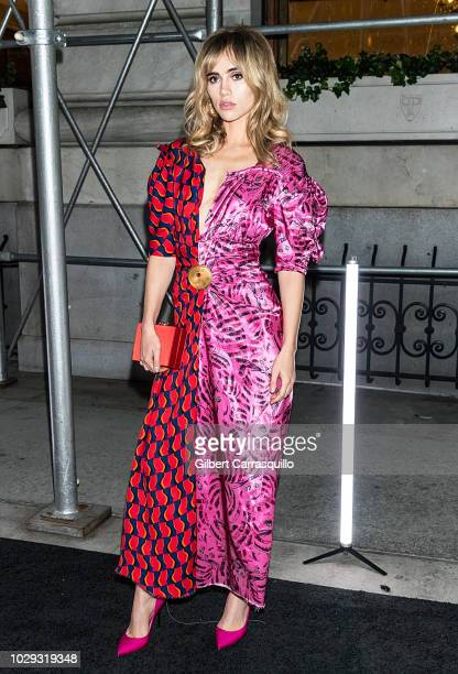 Model Suki Waterhouse is seen arriving to Harper's BAZAAR ICONS Party at The Plaza Hotel on September 7 2018 in New York City