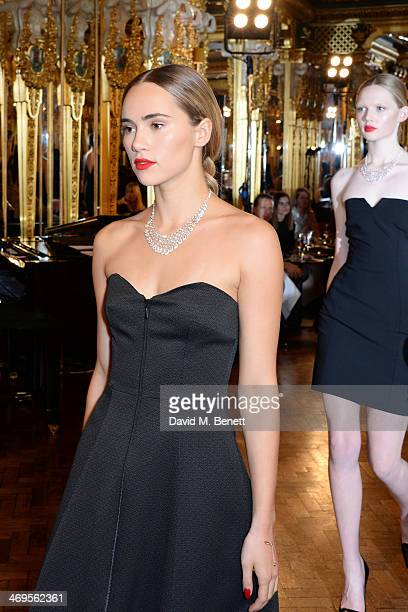 Model Suki Waterhouse walks the runway at the GRACE debut and AW14 dinner at Cafe Royal on February 15 2014 in London England