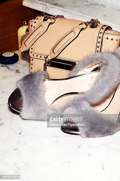 Model Suki Waterhouse's style inspirations are photographed for Madame Figaro on May 27 2014 in Cannes France Shoes bag PUBLISHED IMAGE CREDIT MUST...