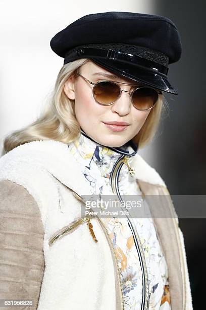 A model sunglasses detail walks the runway at the Sportalm show during the MercedesBenz Fashion Week Berlin A/W 2017 at Kaufhaus Jandorf on January...