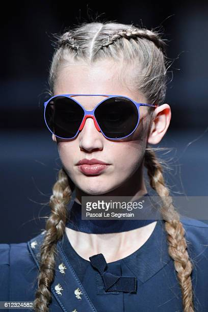 e15125fc87f A model sunglasses detail walks the runway during the Emporio Armani show  as part of the