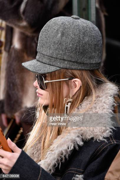 A model sunglasses detail walks the runway for the Marc Jacobs Fall 2017 Show at Park Avenue Armory on February 16 2017 in New York City