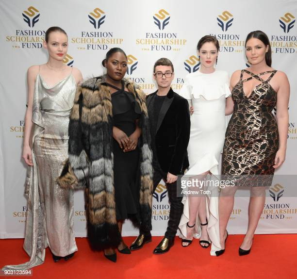 Model Svea Berlie actress Danielle Brooks Honoree Fashion Designer Christian Siriano Presenter Model Coco Rocha and Model Candice Huffine attend the...