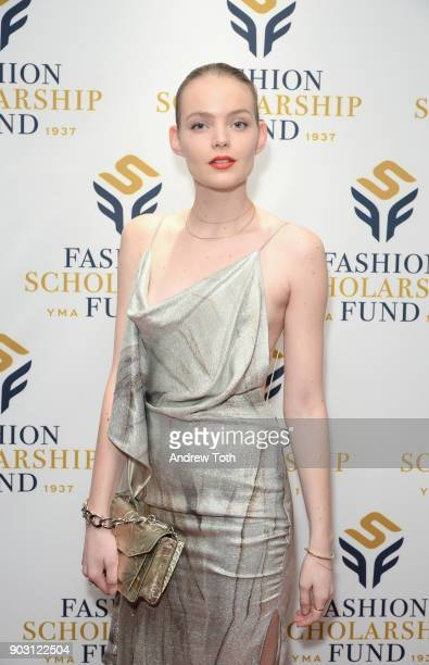 Model Svea Berlie attends the 81st Annual YMA Fashion Scholarship Fund National Merit Scholarship Awards Dinner at Marriott Marquis Times Square on...