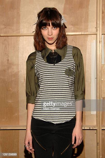 Model Sveta Gliedova poses backstage at the Boy Meets Girl Fall 2011 fashion show at Style360 on February 15 2011 in New York City