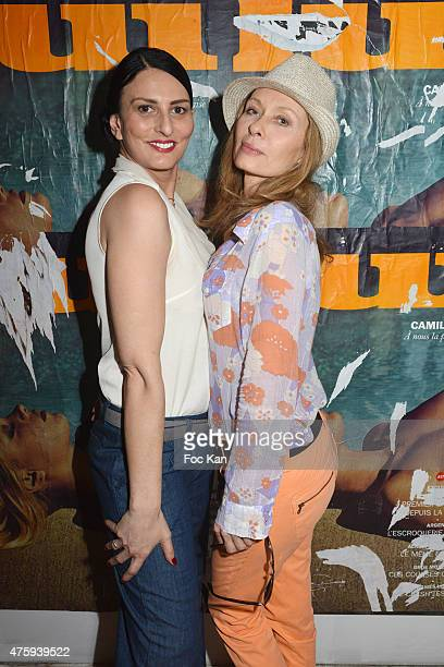Model Sylvie Ortega Munos and actress Valerie Steffen attend the 'Opening 4' Exhibition Hosted by Sandra Cheres at 20 Rue Pierre Levee on June 4 2015...