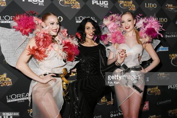 R Model Sylvie Ortega Munos attends the Top Model Belgium Awards 2018 Ceremony at the Lido on January 21 2018 in Paris France