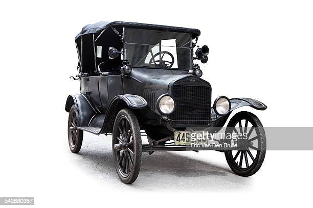 model t 1920 ford silhouetted - eric van den brulle stock pictures, royalty-free photos & images