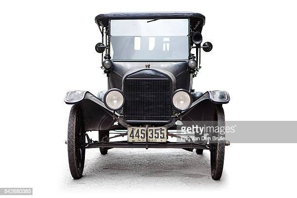 model t convertible silhouetted - eric van den brulle stock pictures, royalty-free photos & images