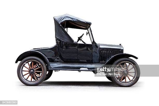 model t convertible silhouetted side view - eric van den brulle stock pictures, royalty-free photos & images