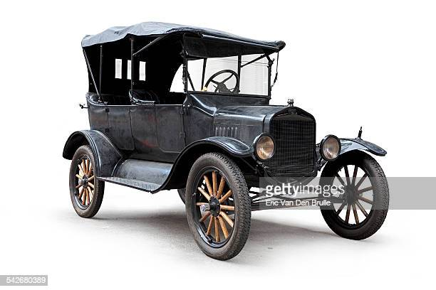 model t convertible silhouetted three quarter view - eric van den brulle stock pictures, royalty-free photos & images