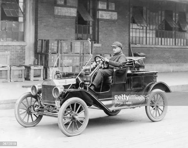 A Model T motor car first produced by Ford in 1908