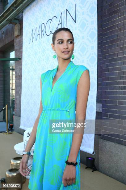 Model Talia Graf niece of Steffi Graf during the Marc Cain Fashion Show Spring/Summer 2019 at WEEC Westhafen on July 3 2018 in Berlin Germany