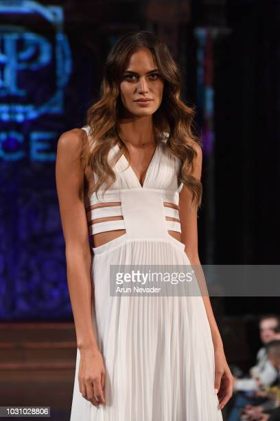 Model Tamara Milicevic walks the runway during the LE PIACENTINI show at New York Fashion Week Powered By Art Hearts Fashion at The Angel Orensanz...