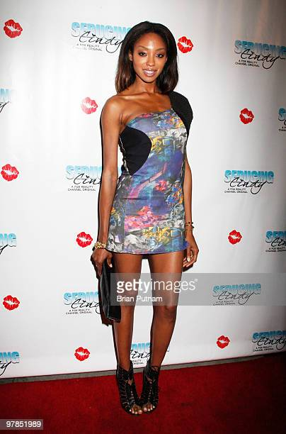 Model Tanisa Harper arrives for 'Seducing Cindy' Finale Party at Guy's North on March 18 2010 in Studio City California