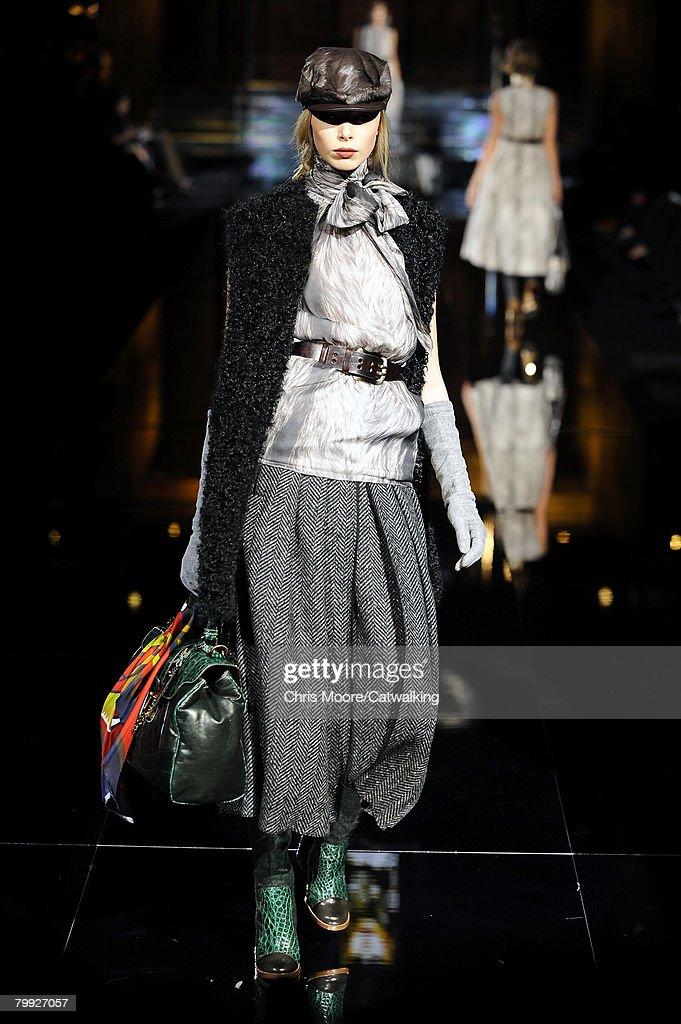 a55879bd1246 Model Tanya Dziahileva walks the runway at the Dolce   Gabbana ...