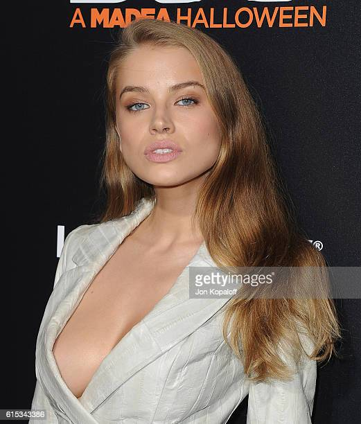Model Tanya Mityushina arrives at the Los Angeles Premiere Boo A Madea Halloween at ArcLight Cinemas Cinerama Dome on October 17 2016 in Hollywood...