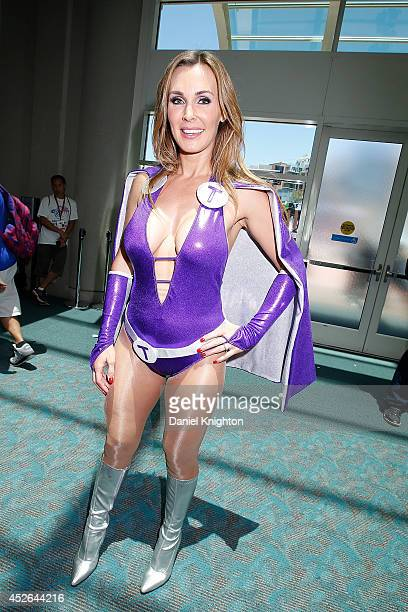 Model Tanya Tate attends ComicCon International at San Diego Convention Center on July 24 2014 in San Diego California