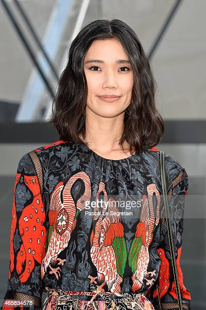 Model Tao Okamoto attends the Louis Vuitton show as part of the Paris Fashion Week Womenswear Fall/Winter 2015/2016 on March 11 2015 in Paris France