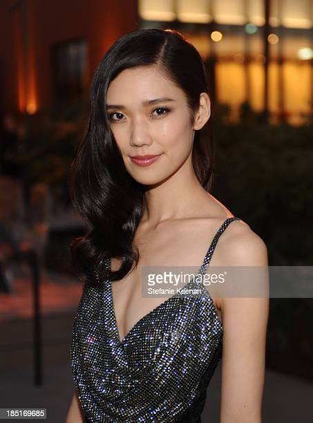 Model Tao Okamoto attends the Wallis Annenberg Center for the Performing Arts Inaugural Gala presented by Salvatore Ferragamo at the Wallis Annenberg...