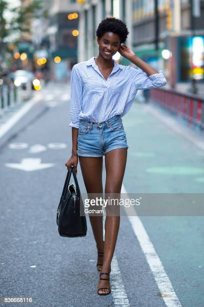 Model Tara Falla attends call backs for the 2017 Victoria's Secret Fashion Show in Midtown on August 21 2017 in New York City