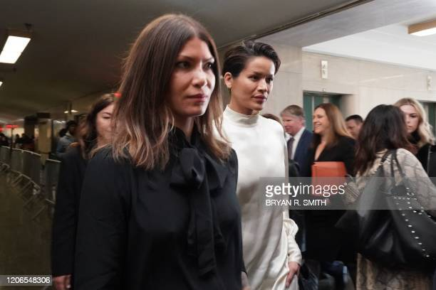 Model Tarale Wulff arrives for the sentencing of movie producer Harvey Weinstein at Manhattan Criminal Court on March 11 2020 in New York Harvey...