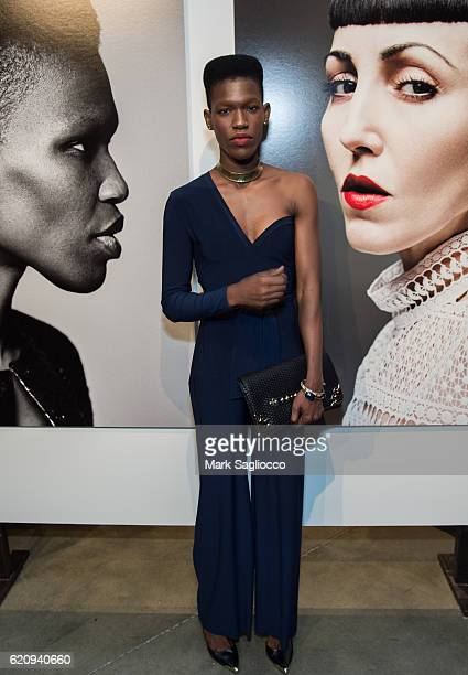 Model Tasha Poupee attends Alexi Lubomirski's 'Diverse Beauty' Book Launch Exhibition Opening at Milk Gallery on November 3 2016 in New York City