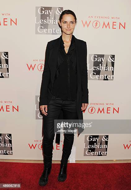 Model Tasha Tilberg arrives at the 2014 An Evening With Women Benefiting LA Gay Lesbian Center at the Beverly Hilton Hotel on May 10 2014 in Beverly...