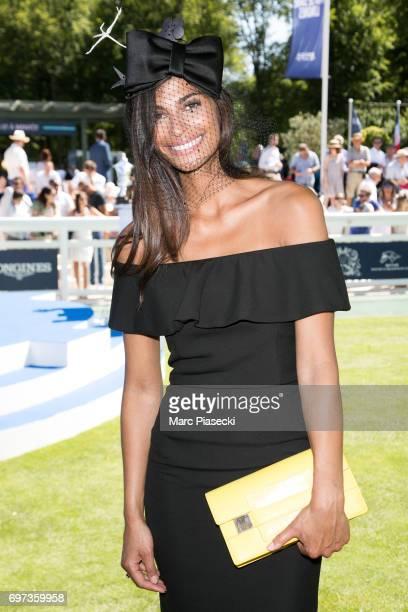Model Tatiana Silva Braga Tavares attends the 'Prix de Diane Longines 2017' on June 18 2017 in Chantilly France