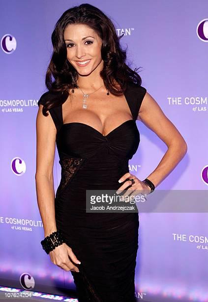 Model Taya Parker arrives at The Cosmopolitan Of Las Vegas opening celebration on December 15 2010 in Las Vegas Nevada