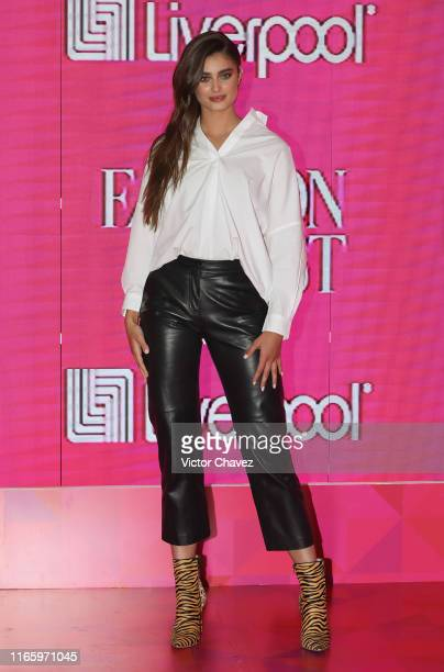 Model Taylor Hill attends a press conference during the Liverpool Fashion Fest Fall/Winter 2019 at Estacion Indianilla on September 4, 2019 in Mexico...