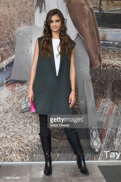 Model Taylor Hill attends a store tour as part of the Liverpool Fashion Fest Fall/Winter 2019 at Liverpool Polanco on September 5, 2019 in Mexico...