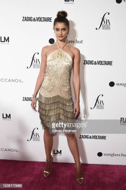 Model Taylor Hill attends Daily Front Row's Fashion Media Awards presented by ZadigVoltaire Sunglass Hut Moroccan Oil LIM Fiji on September 6 2018 in...