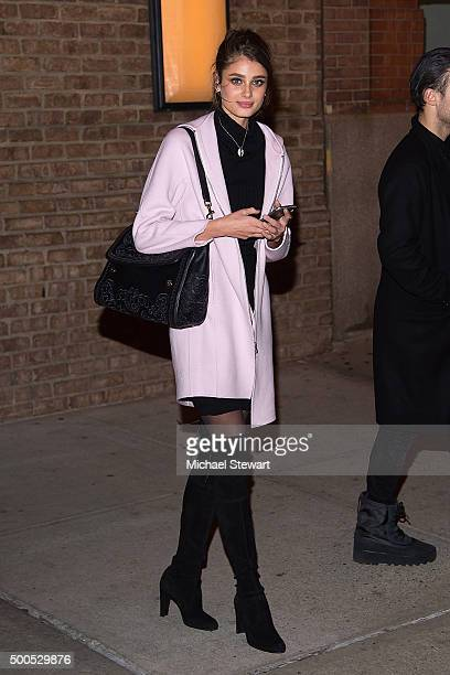 Model Taylor Hill attends the 2015 Victoria's Secret Fashion Show viewing party at Highline Stages on December 8 2015 in New York City