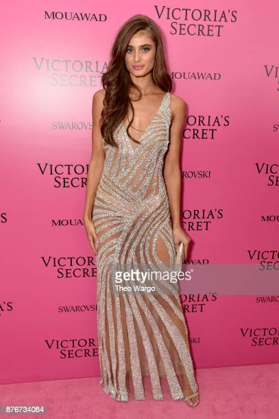 Model Taylor Hill attends the 2017 Victoria's Secret Fashion Show In Shanghai After Party at MercedesBenz Arena on November 20 2017 in Shanghai China